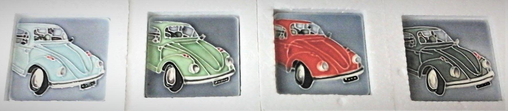 05358 VW Beetle Ceramic Magnets