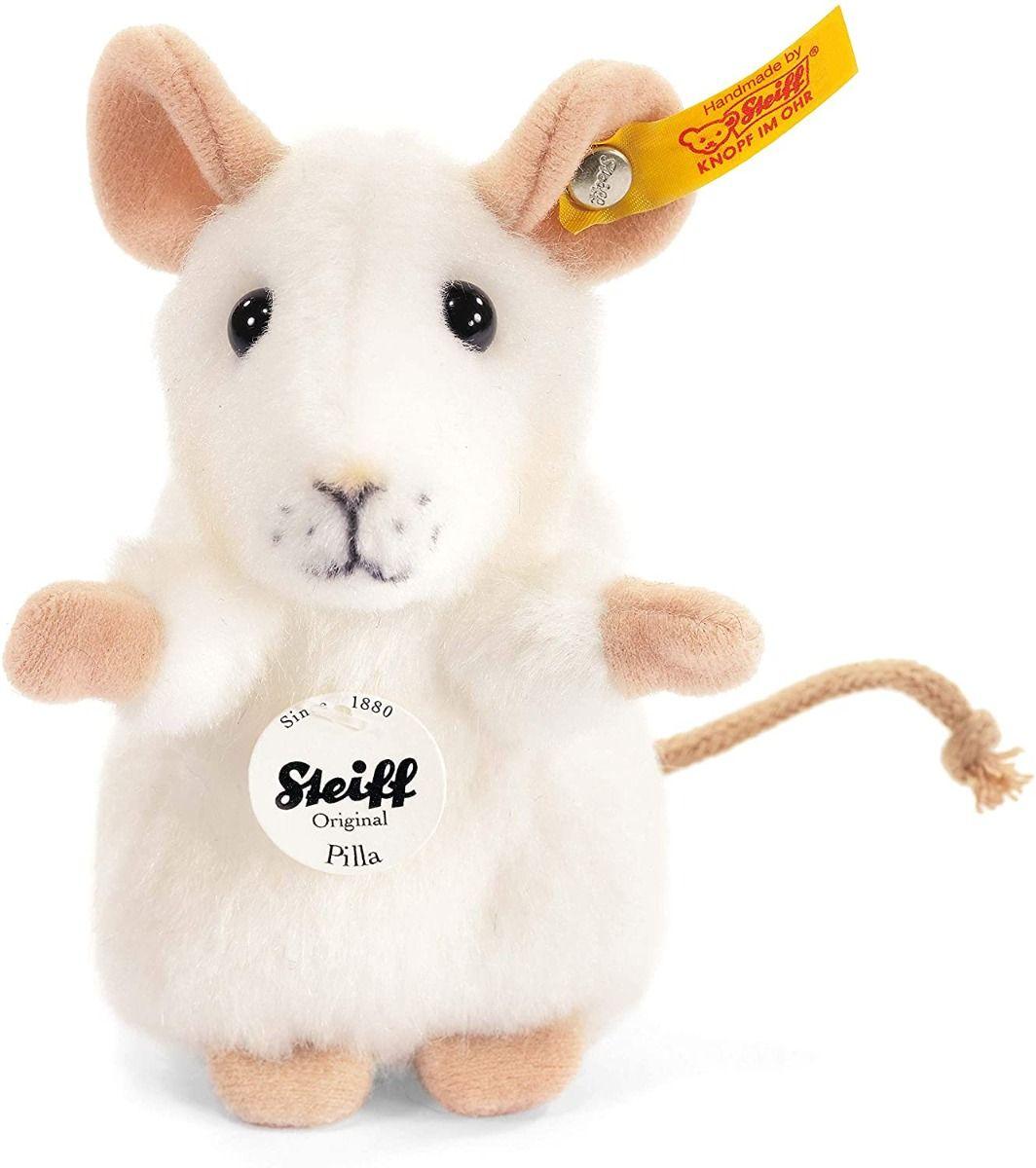 Steiff Pilla Mouse White Plush 10cm 056215