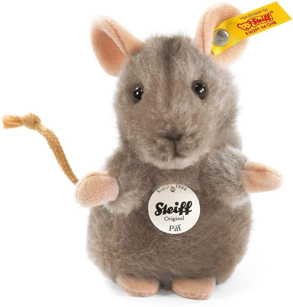 Steiff Piff Mouse Grey Plush 10cm 056222