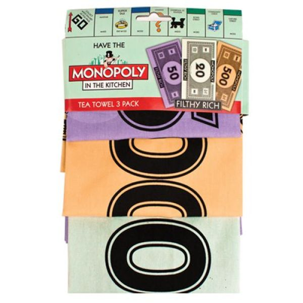 Monopoly in the Kitchen - Tea Towel 3 Pack  GR170042