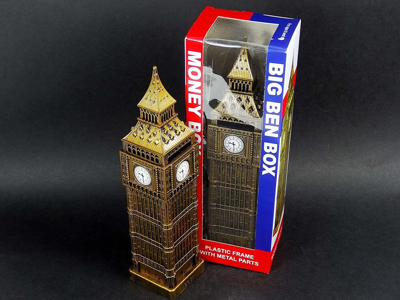 Big Ben Plastic Money Box with Metal Parts 1485