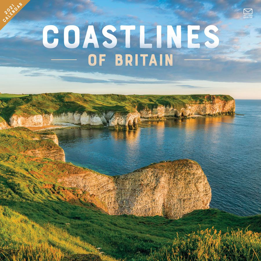 Coastlines of Britain 2021 Wall Calendar by Carousel Calendars 210039