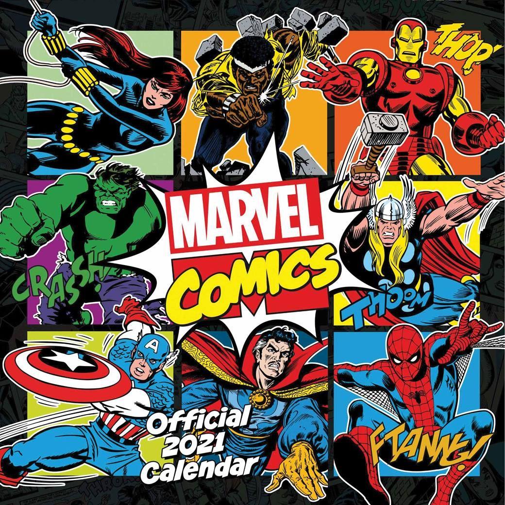 Marvel Comics 2021 Wall Calendar by Carousel Calendars 210947
