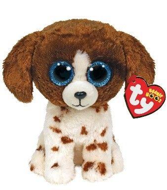 Ty Muddles Brown & White Dog Beanie Boo regular 15 cm 36249