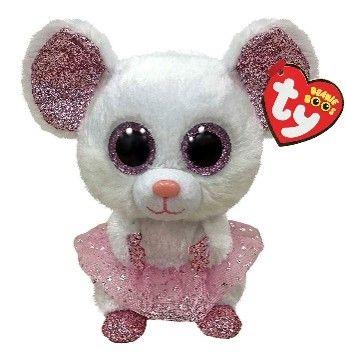 Ty Nina Mouse with Tutu Beanie Boo Clip 35246