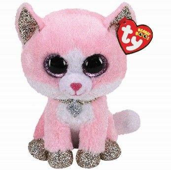 Ty Fiona Pink Cat Beanie Boomedium 24 cm36489