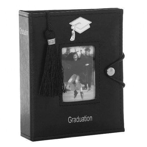 77842 Black Graduation Photo Picture Album with Tassel