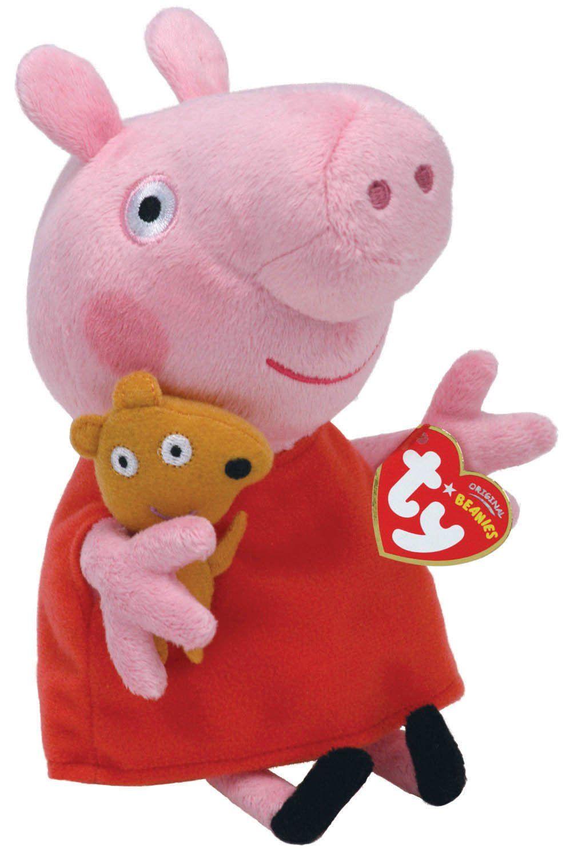 TY Peppa Pig Beanie 18cm 46128