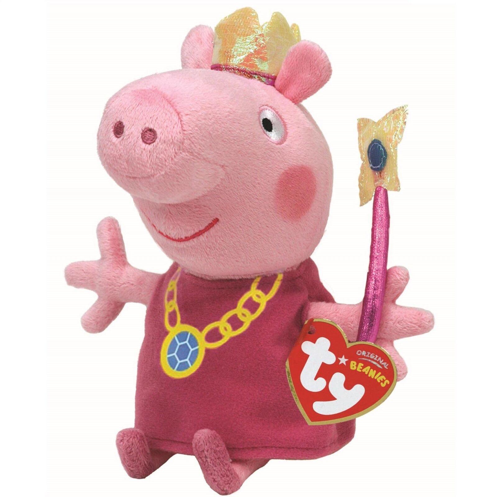 TY Peppa Pig Princess Beanie 18cm 46128
