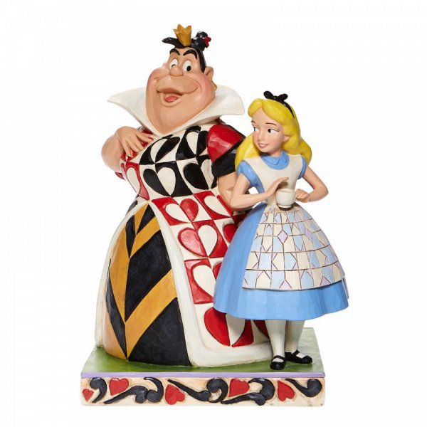 Chaos and Curiousity - Alice and the Queen of Hearts Figurine6008069 by Disney Enesco
