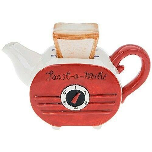 Retro Toaster Ceramic Teapot by Shudehill Gifts 61501