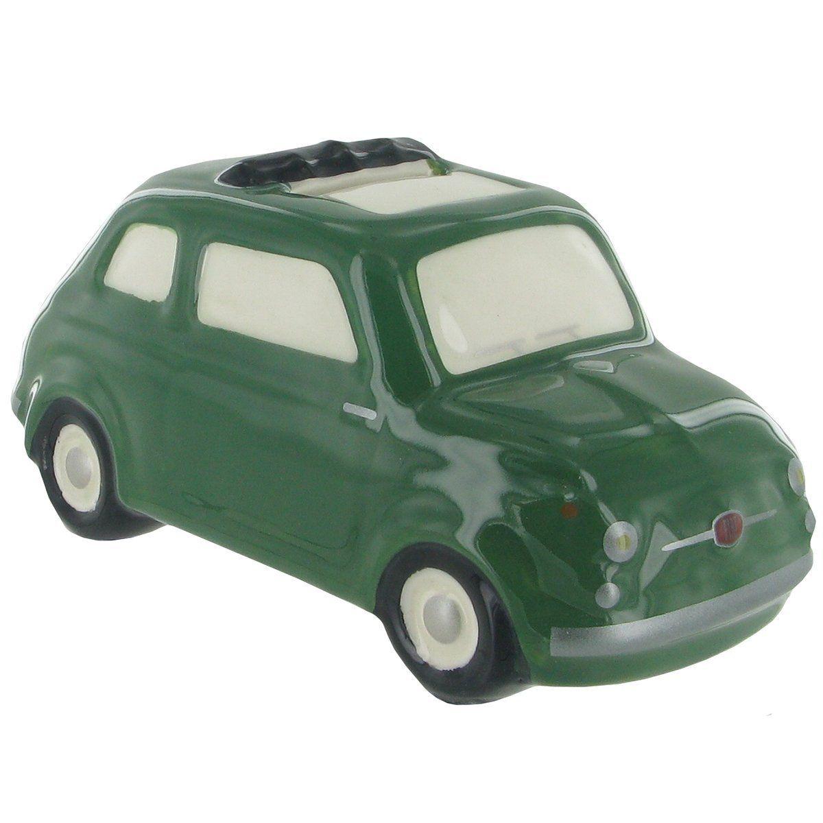 Fiat 500 Green Ceramic Money Bank FICE66