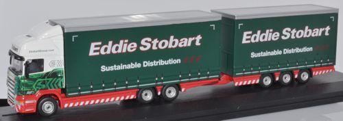 Oxford Diecast Scania R440 Topline Drawbar Eddie Stobart 76DBU003