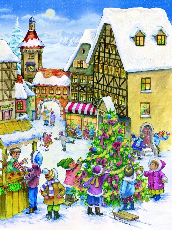 Richard Sellmer Advent Calendar Decorating the Tree 795