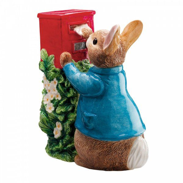 Beatrix Potter Peter Posting A Letter Ceramic Money Bank by Enesco A7170