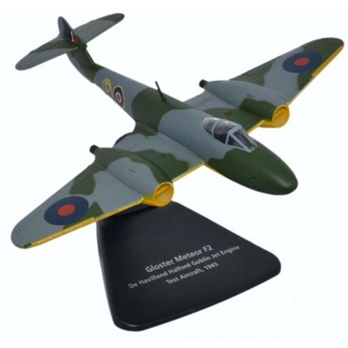 Oxford Diecast Gloster Meteor F2 De Havilland Goblin Jet Test Aircraft AC068