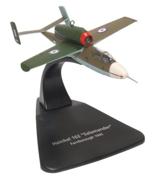 Oxford Diecast Heinkel He162 Air Min 61 W.Nr.120072 RAF 1945 AC076