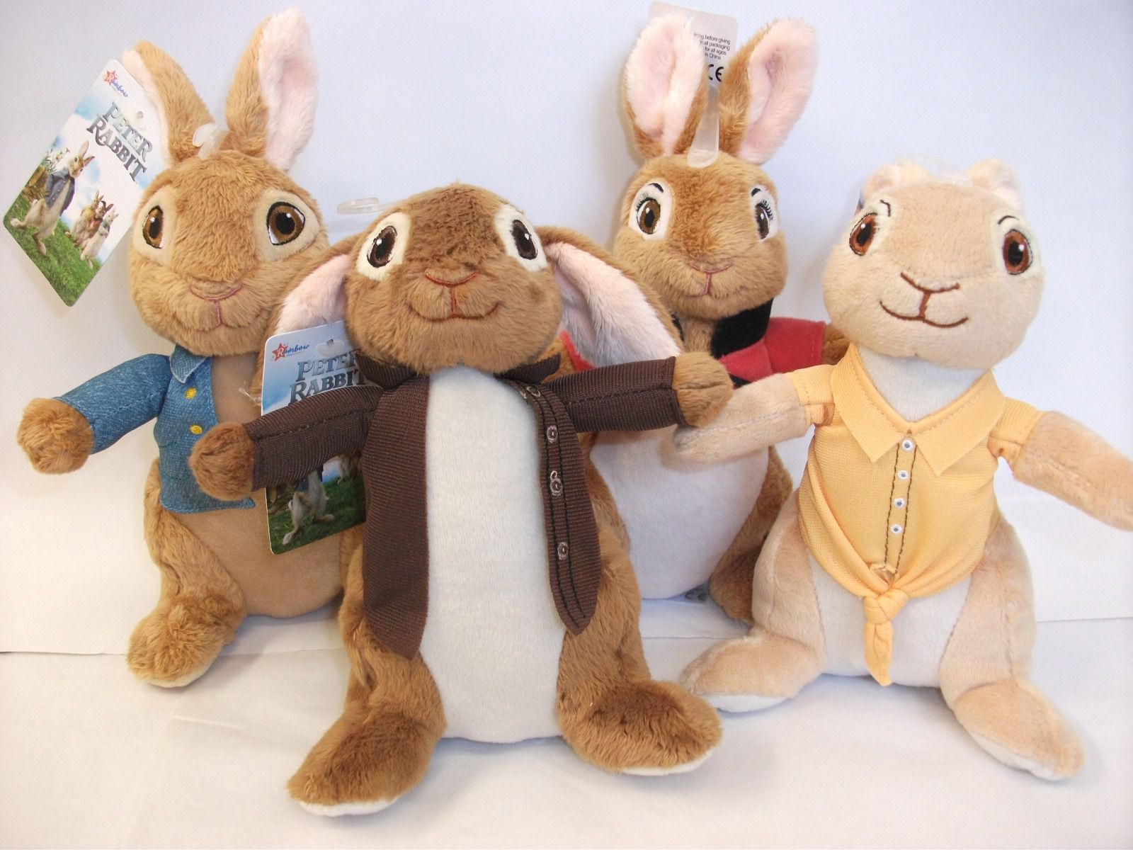 Peter Rabbit's crew: Peter, Benjamin, Flopsy and Mopsy by Rainbow Designs