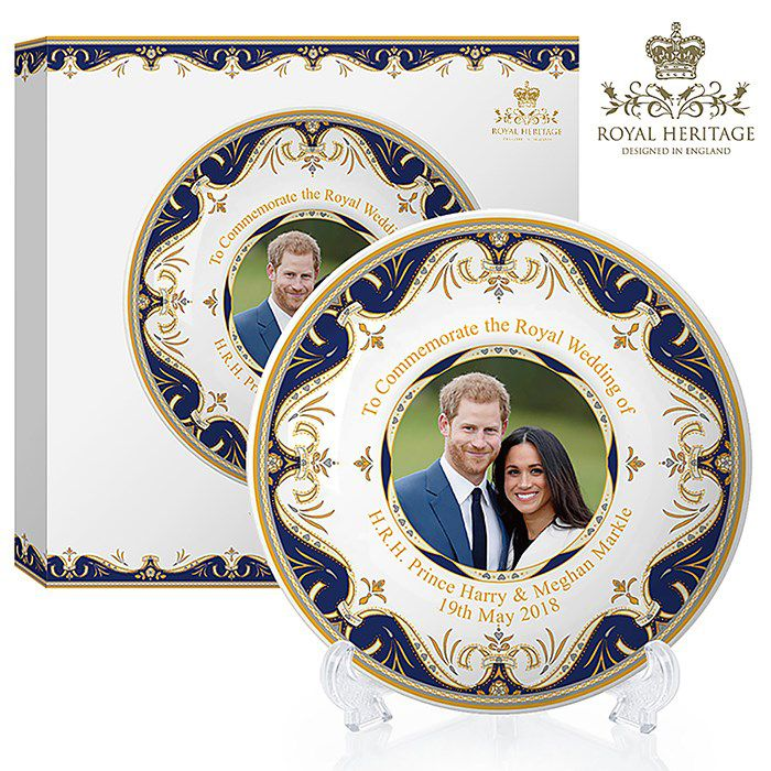 "LP18077 Royal Wedding China Plate 8"""