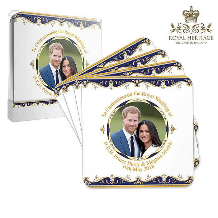 Royal Wedding Coasters set of 4 by Elgate LP18078