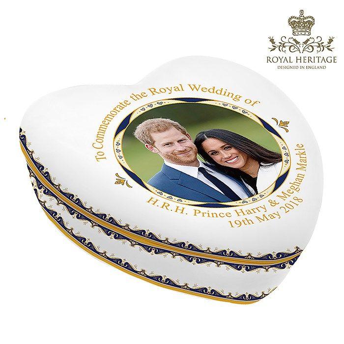 LP18088 Royal Wedding China Heart Box