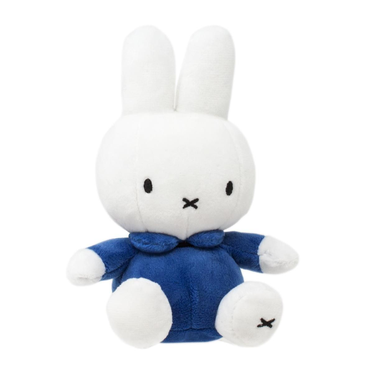 Classic Miffy Soft Toy in Blue Dress 16cm by Rainbow Designs MF1457BL