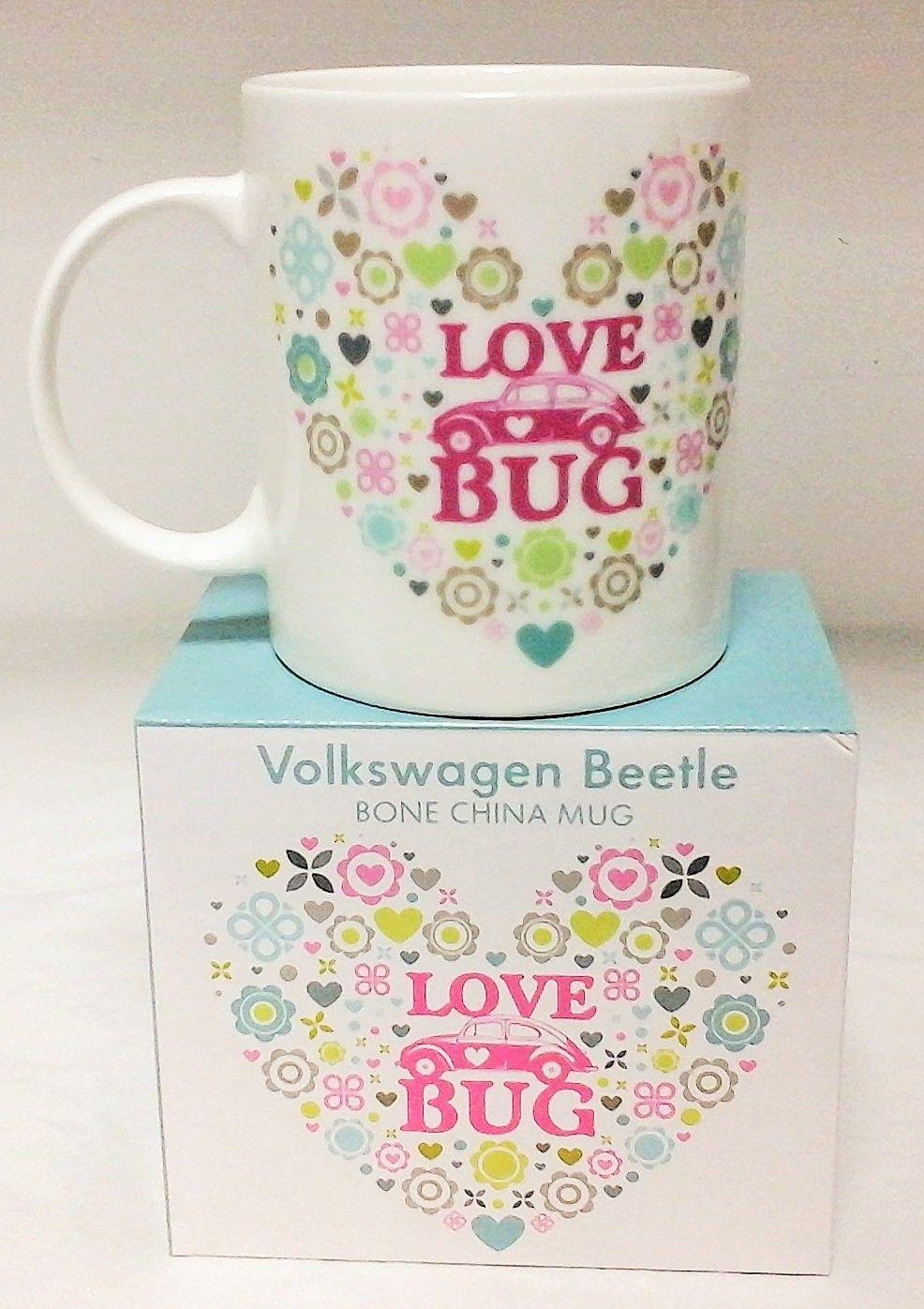 VW Beetle Love Bug Bone China Mug Official Merchandising by Elgate 68155