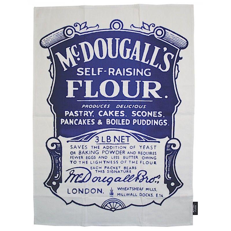 TWLTPR01 McDougall's Self Raising Flour Tea Towel Retro style