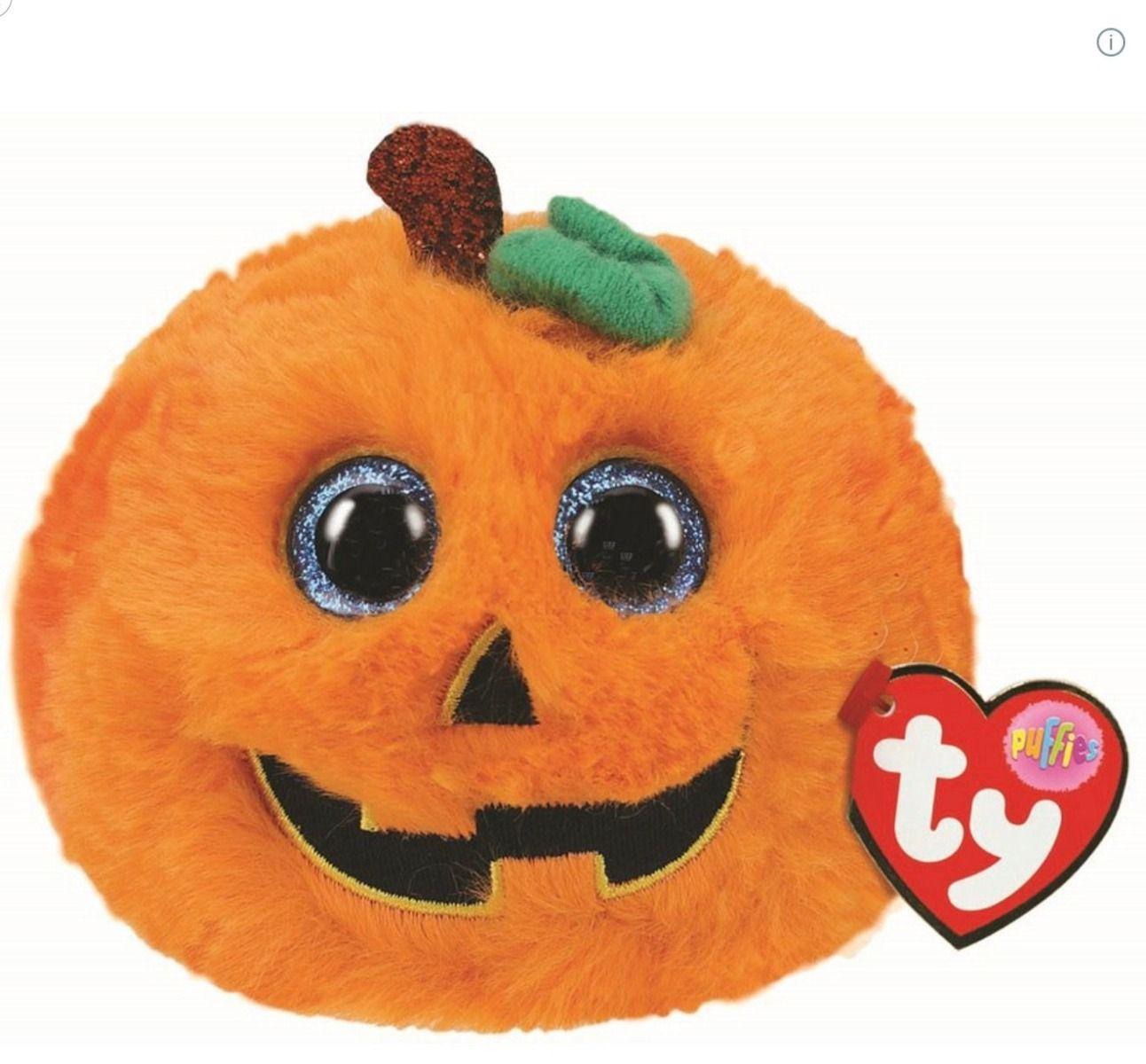 TY Seeds Pumpkin Halloween Limited Edition Puffie 7cm 42516