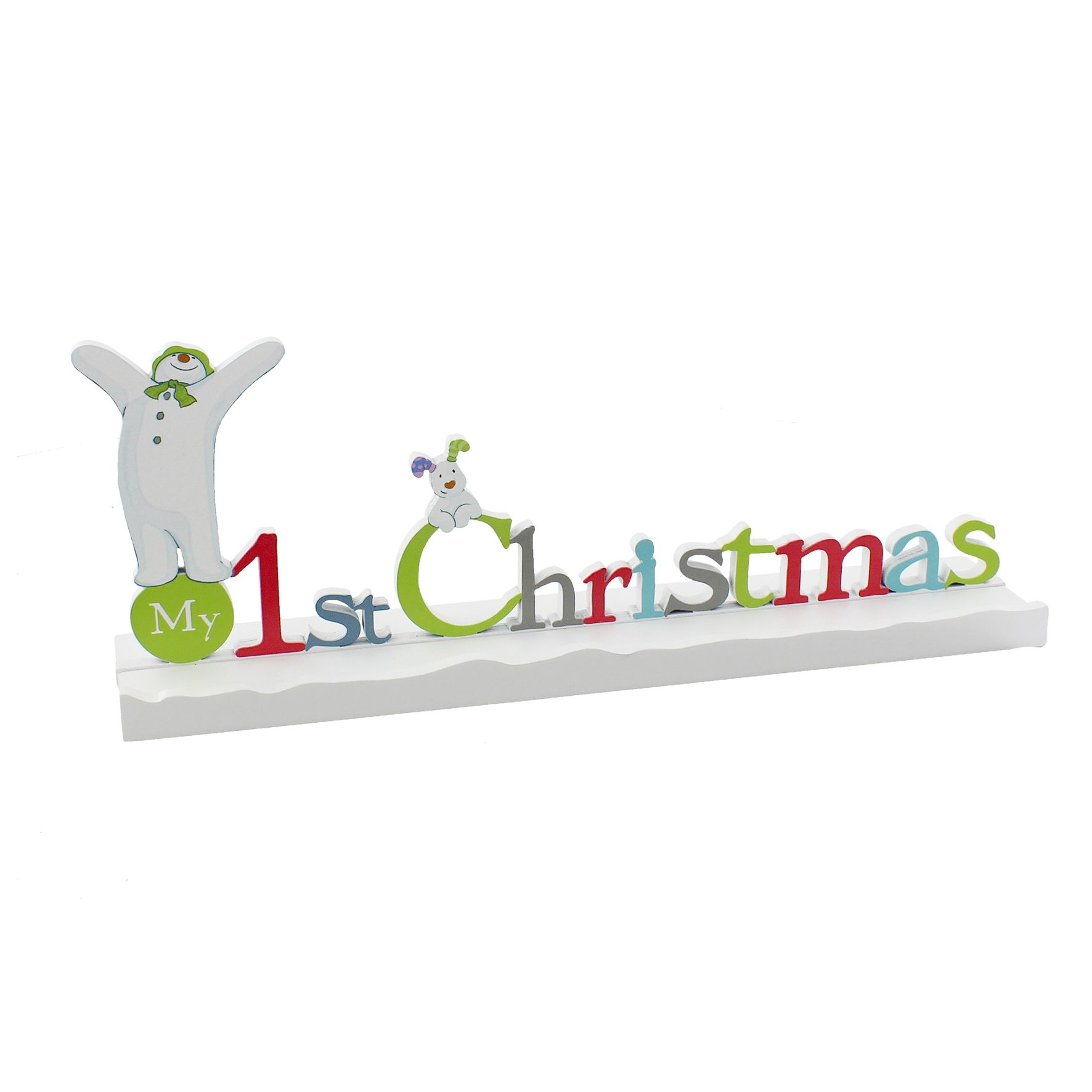 The Snowman and The Snowdog My 1st Christmas Mantel Plaque SM116