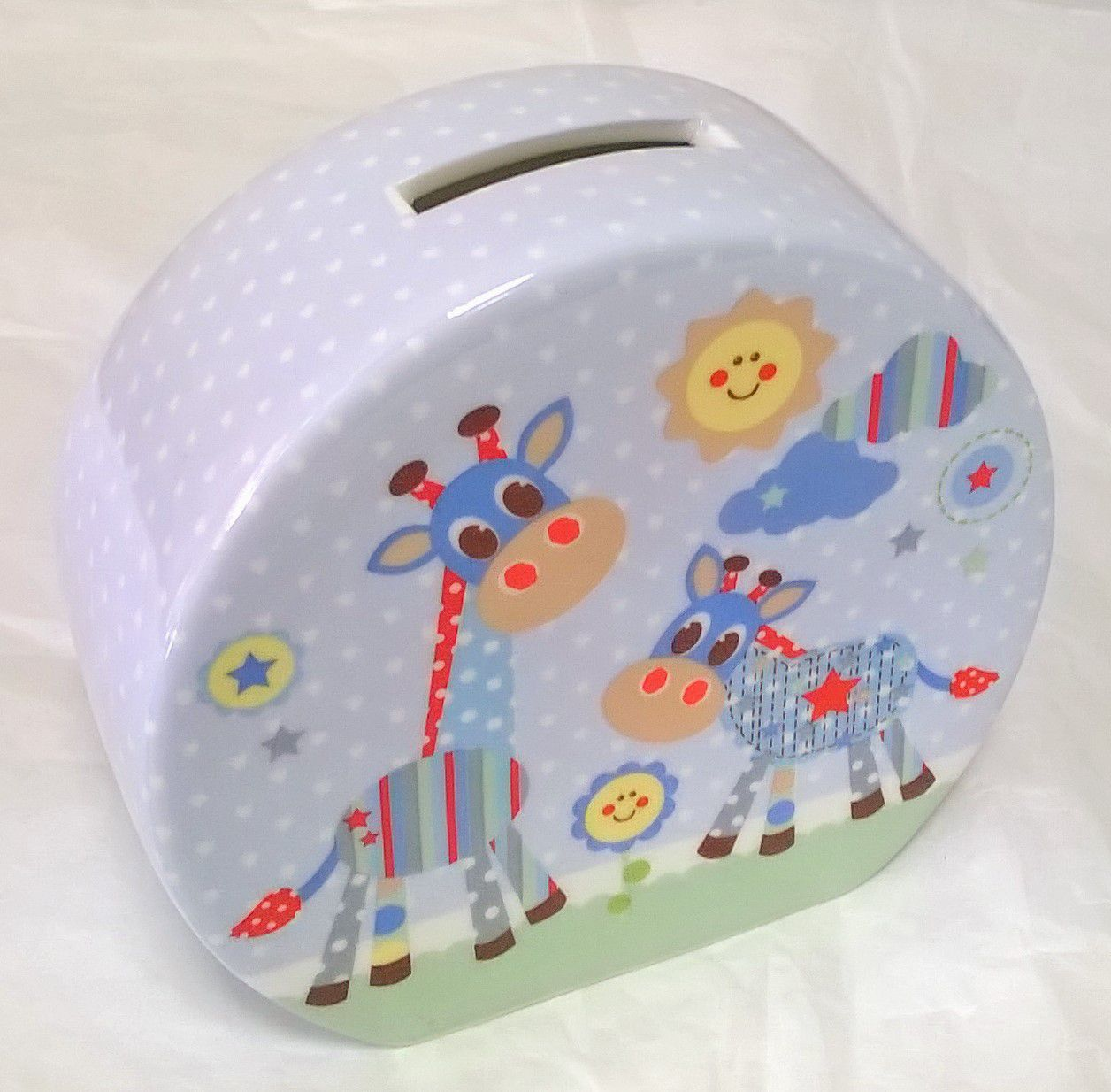 Little Sunshine Ceramic Money Box Blue by Leonardo LP33387