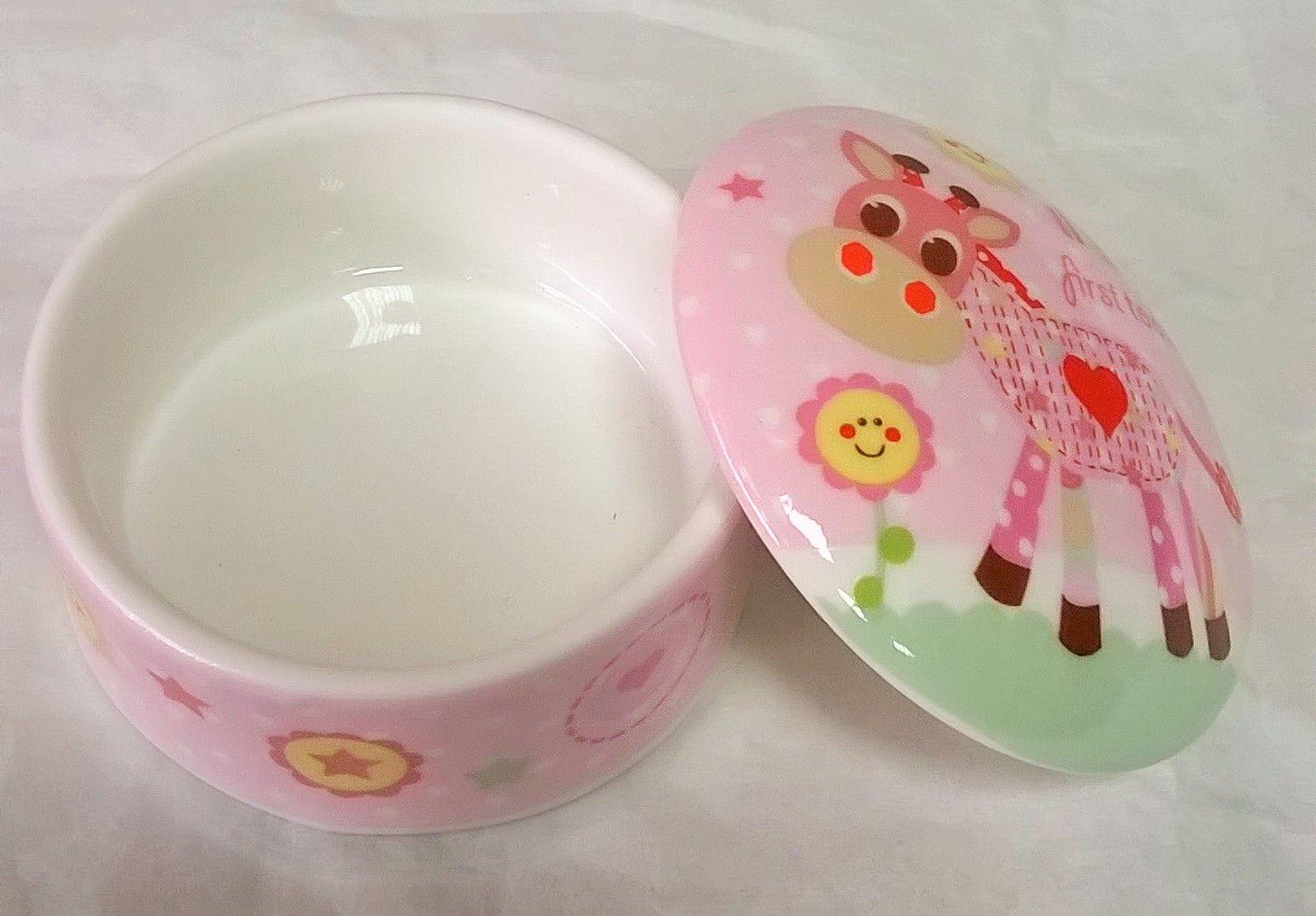 LP33388 Little Sunshine My First Tooth Trinket Box in Pink