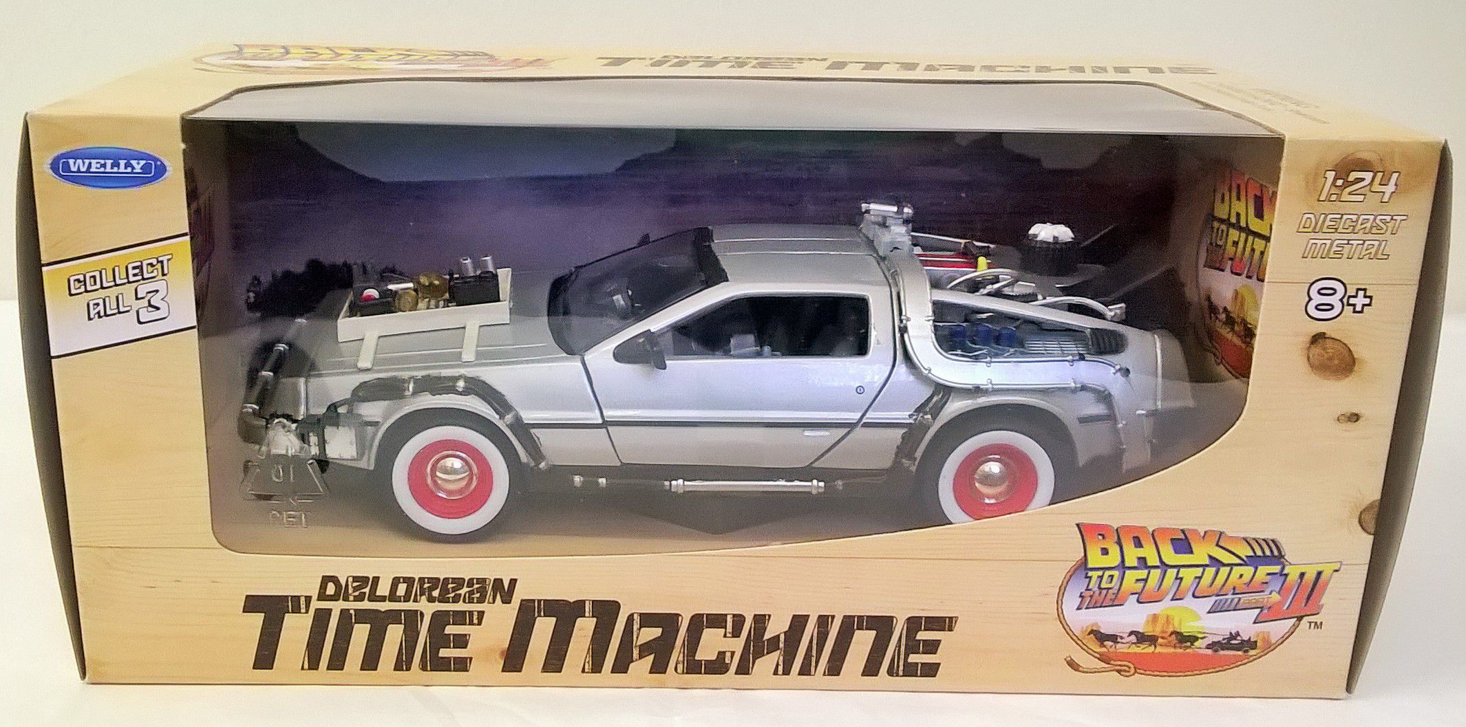 Back to the Future Delorean Part III by Welly 22444W