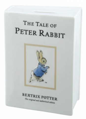 The Tale of Peter Rabbit Beatrix Potter Ceramic Money Bank by Enesco A28347