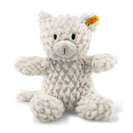099281 Soft Cuddly Friends Whiskers Cat Light Grey 28cm by Steiff