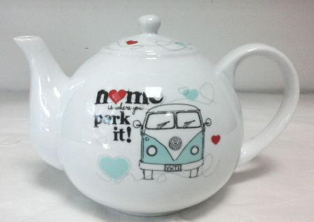 68193 VW Campervan Teapot, Home Is Where You Park It!