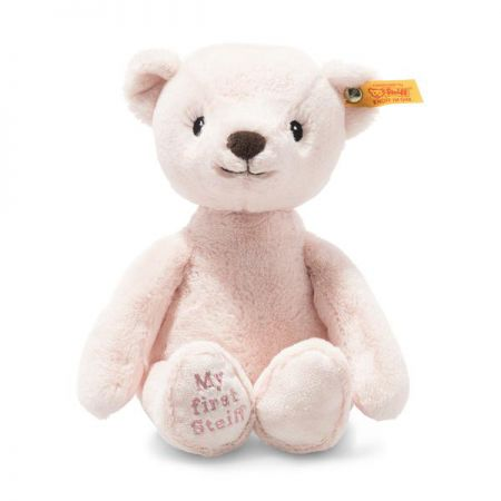 Steiff My First Steiff Teddy Bear Pink Plush Soft Cuddly Friends 26cm 242137