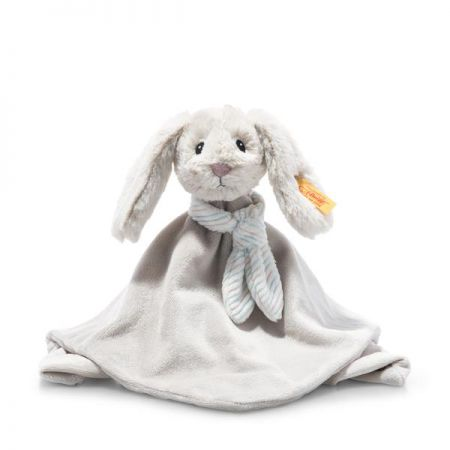 Steiff Hoppie Rabbit Grey Plush Soft Cuddly Friends 20cm 242243