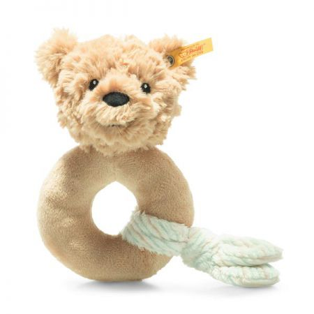 Steiff Jimmy Teddy Bear Grip Toy with Rattle Beige Plush Soft Cuddly Friends 242298