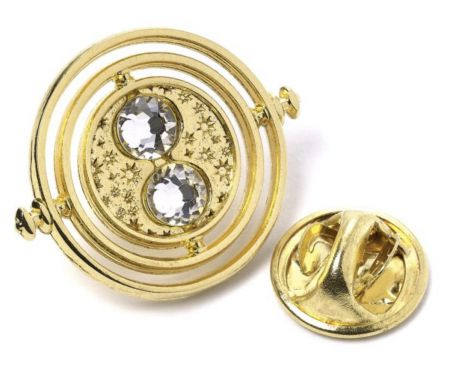 Fixed Time Turner Pin Badge by The Carat Shop HPPB0100