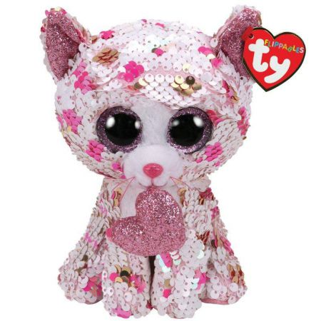 36340 Cupid Cat Flippable Beanie Boo Valentines by TY