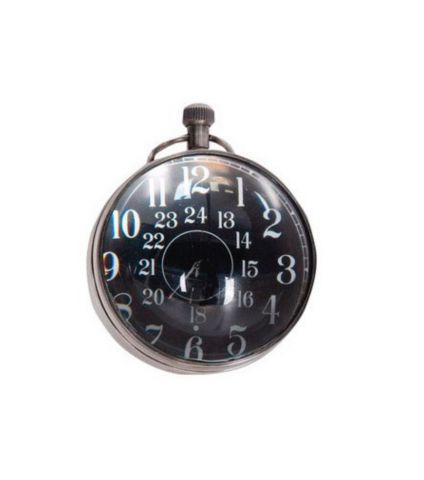 Authentic Models Eye of Time Clock, Silver SC063