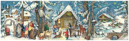 Richard Sellmer Panoramic Traditional Advent Calendar Christmas with the Animals 205