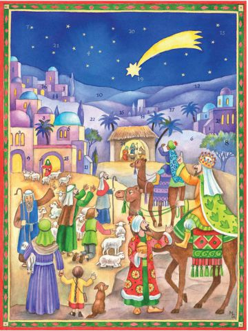 Richard Sellmer Traditional  Advent Calendar Three Kings coming to the Stable 70136