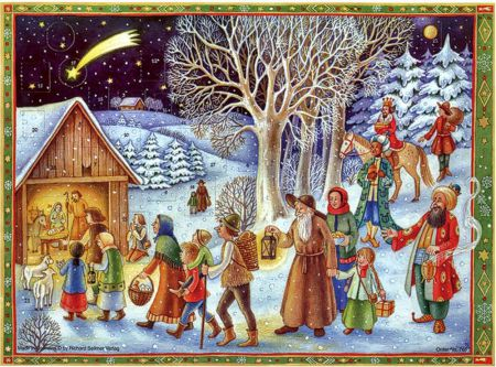 Richard Sellmer Traditional Advent Calendar See the Stable 766
