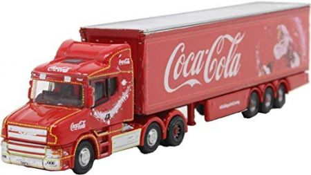 Oxford Diecast Scania T Cab Box Trailer Coca Cola Xmas NTCAB007CC