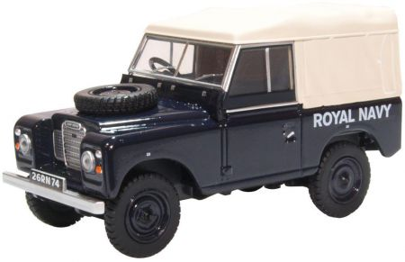 Oxford Diecast Land Rover Series III SWB Canvas Royal Navy 43LR3S004