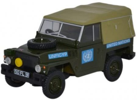 Oxford Diecast Land Rover 1/2 Ton Lightweight United Nations 43LRL001