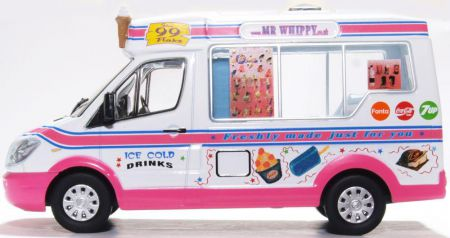 Oxford Diecast Whitby Mondial Ice Cream Van Mr Whippy 43WM008