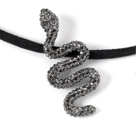 Harry Potter Nagini Black Crystal Pendant Necklace by The Carat Shop WN0152